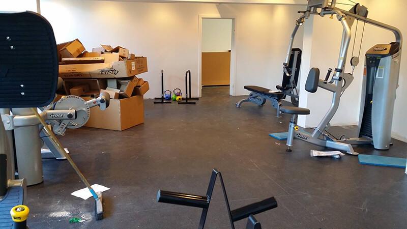 Fitnessrum indrettes